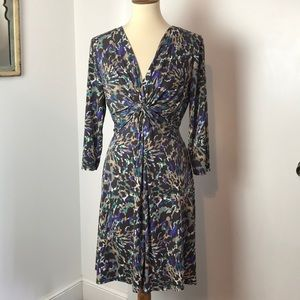 MSK Petite Leopard Print Knit Dress